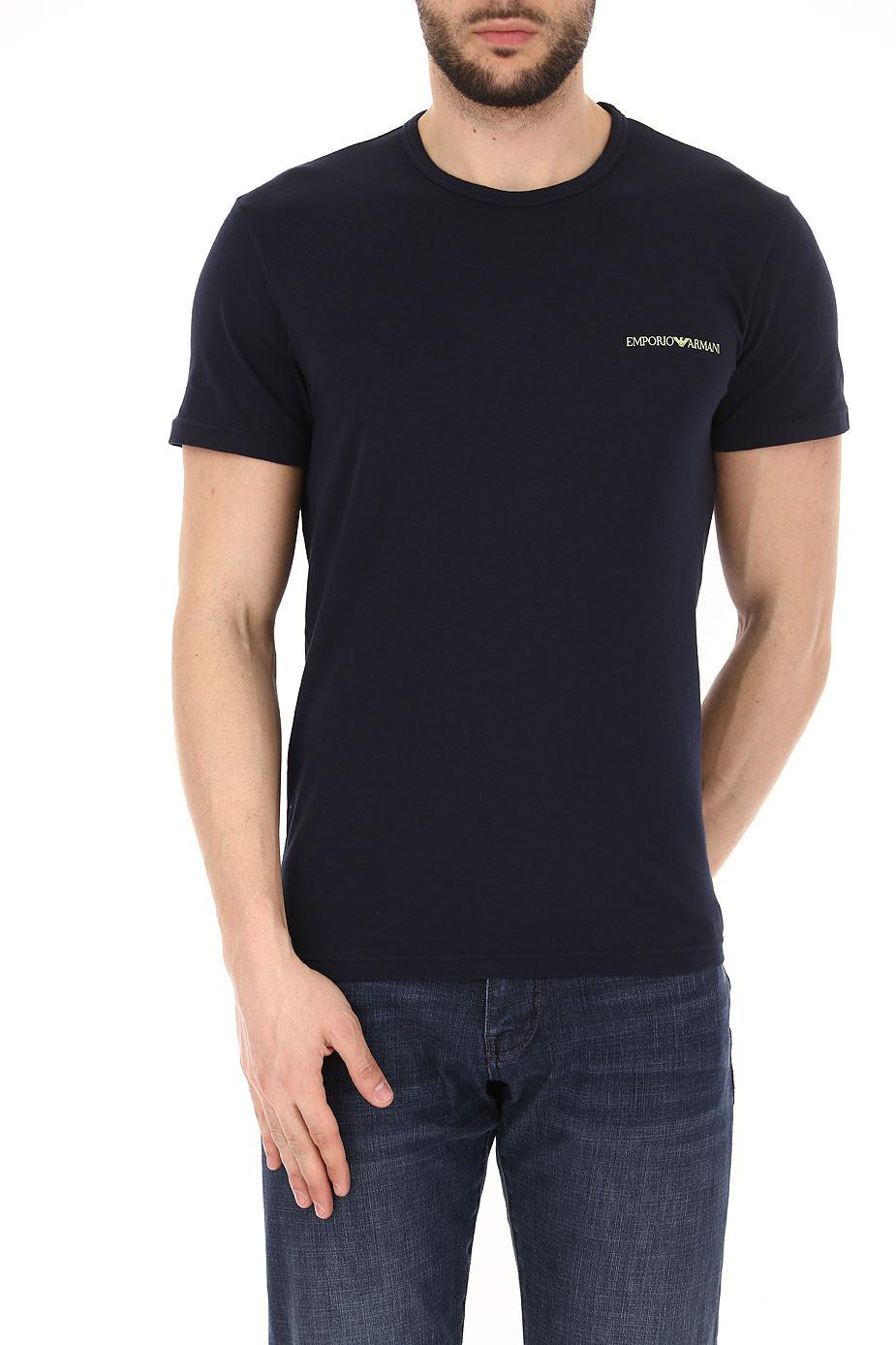 2205ea2ff5d9 EMPORIO ARMANI pánské trička 2 ks modrá marine 111267 8P717 27435 ...