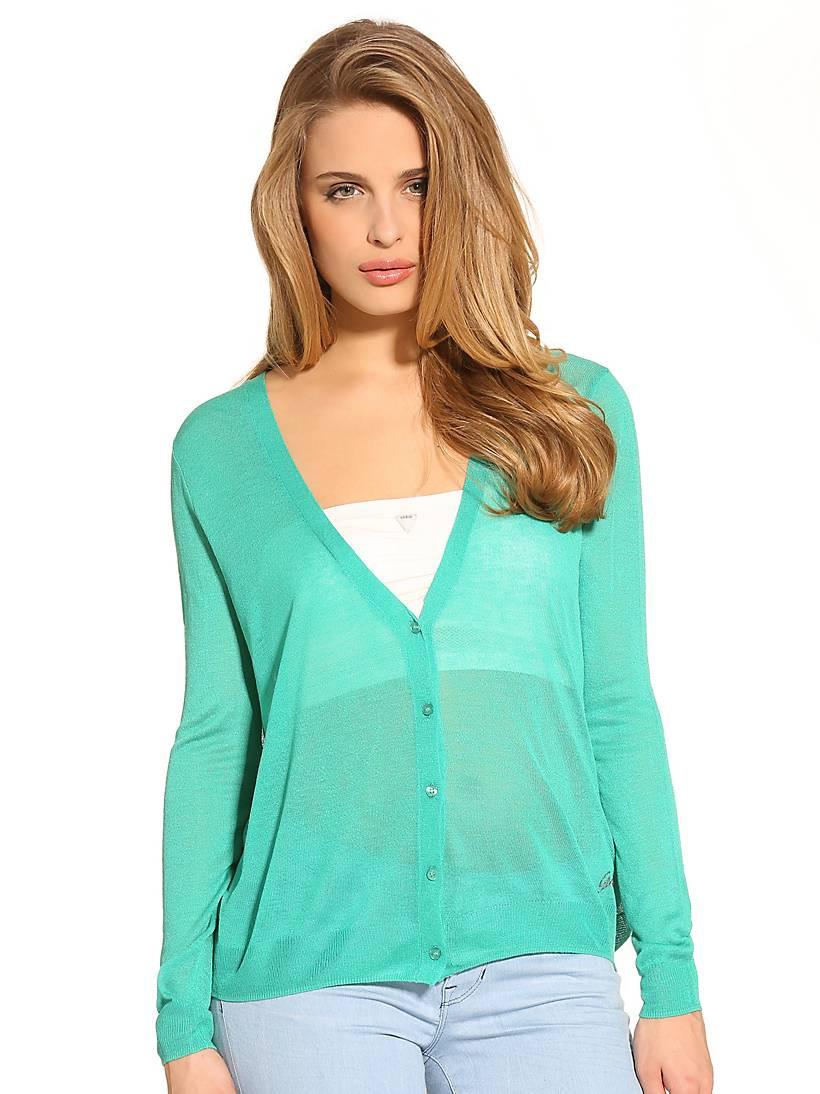 Guess GUESS dámský svetr zelený