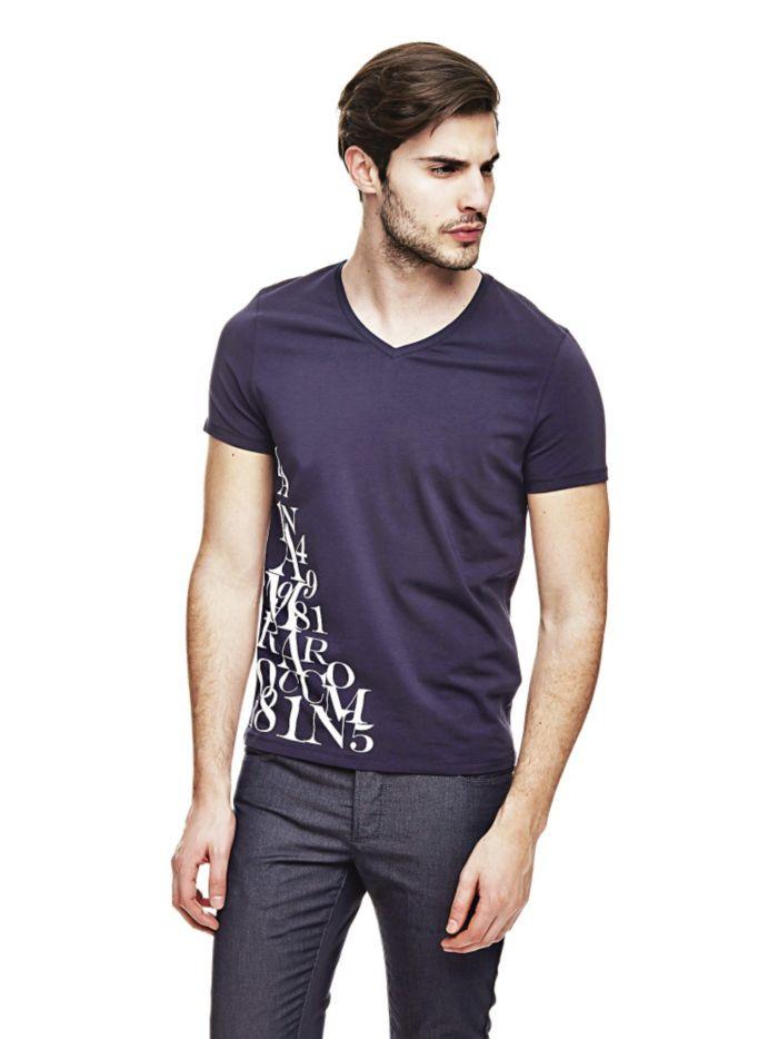 Guess GUESS pánské tričko tmavě modré