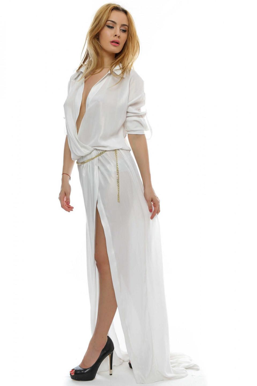 Guess by MARCIANO bílé šaty dlouhé 62G861-7960Z-B017 č.2 3588fd1f669