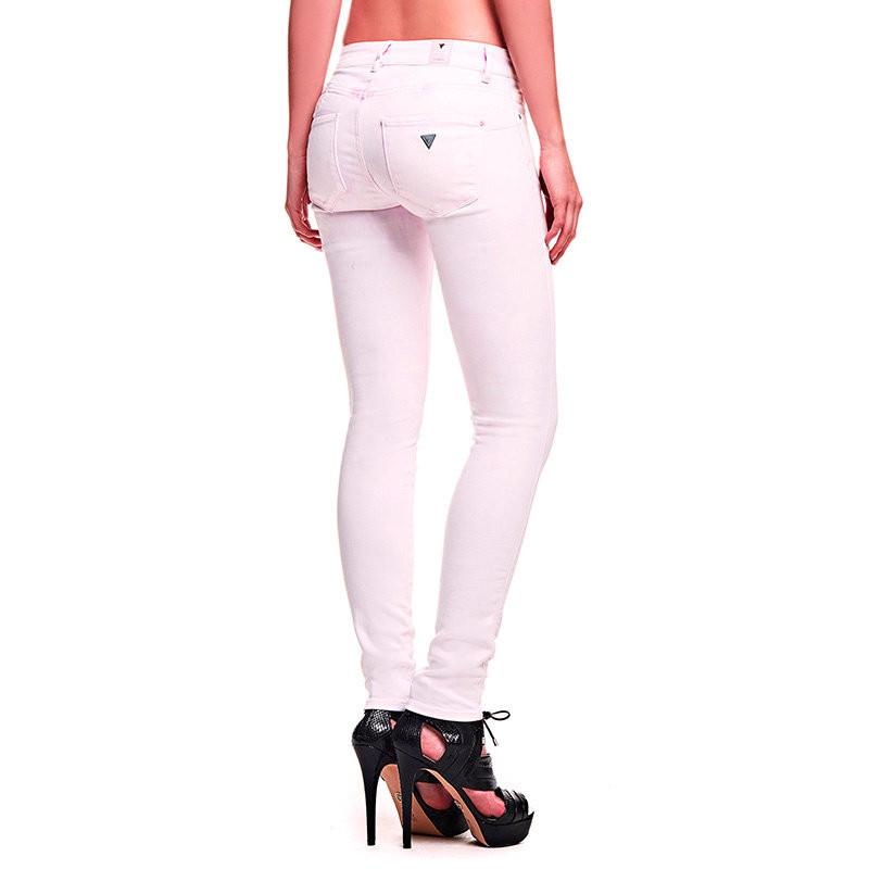 82d19c47024 GUESS dámské džíny světle růžové W61AJ2 D21W0 č.1
