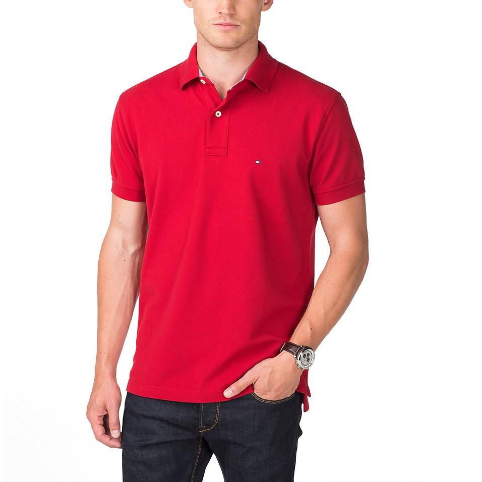 19d764862a TOMMY HILFIGER pánské polo tričko červené THJP0002 č.1