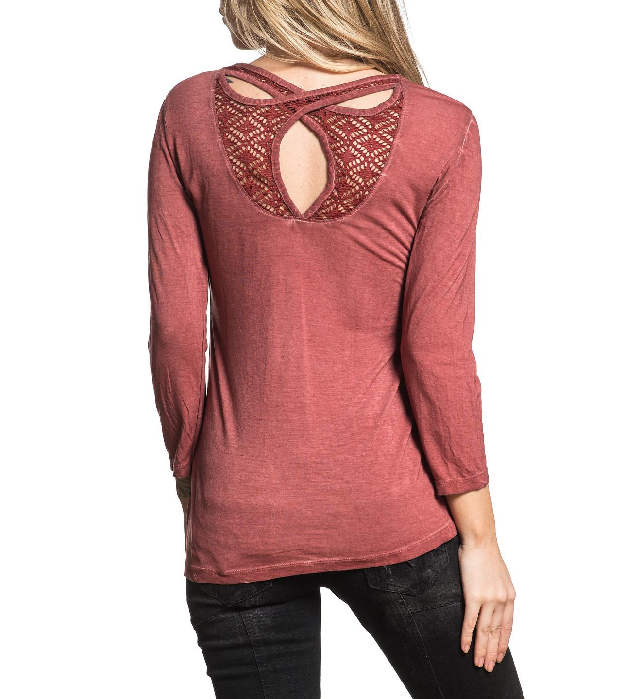 91076bb8c624 Affliction dámské tričko červené ISABELLA AW19446 č.2
