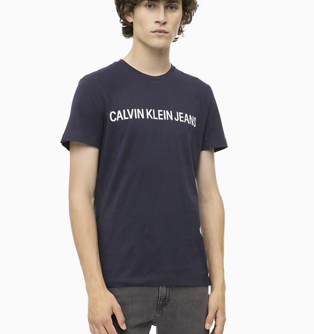 7b54b8baed Calvin Klein pánské tričko tmavě modré J30J307855 č.1