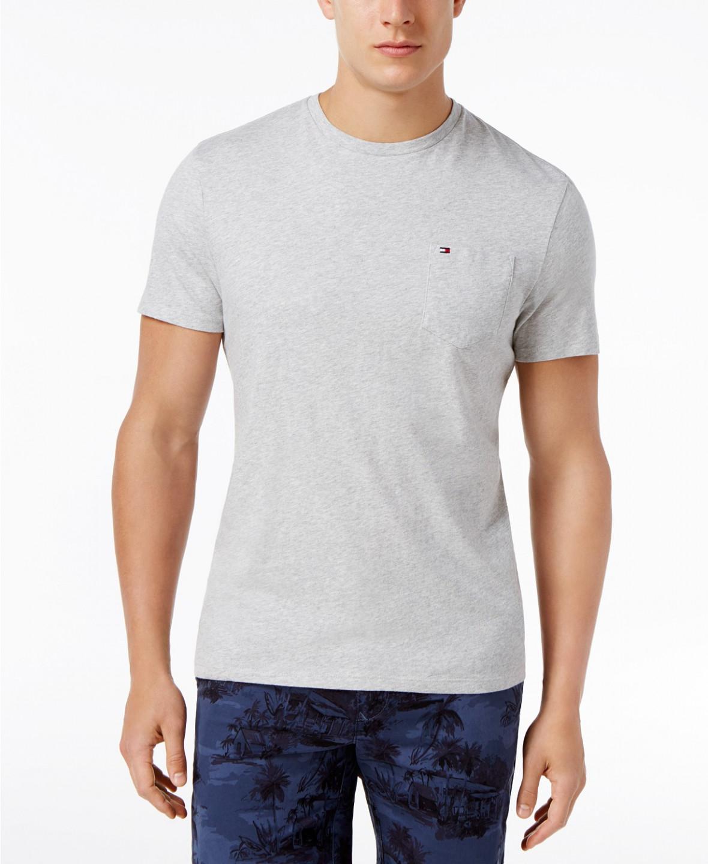 0836681dd8 TOMMY HILFIGER pánské světle modré tričko THJ000094 č.1