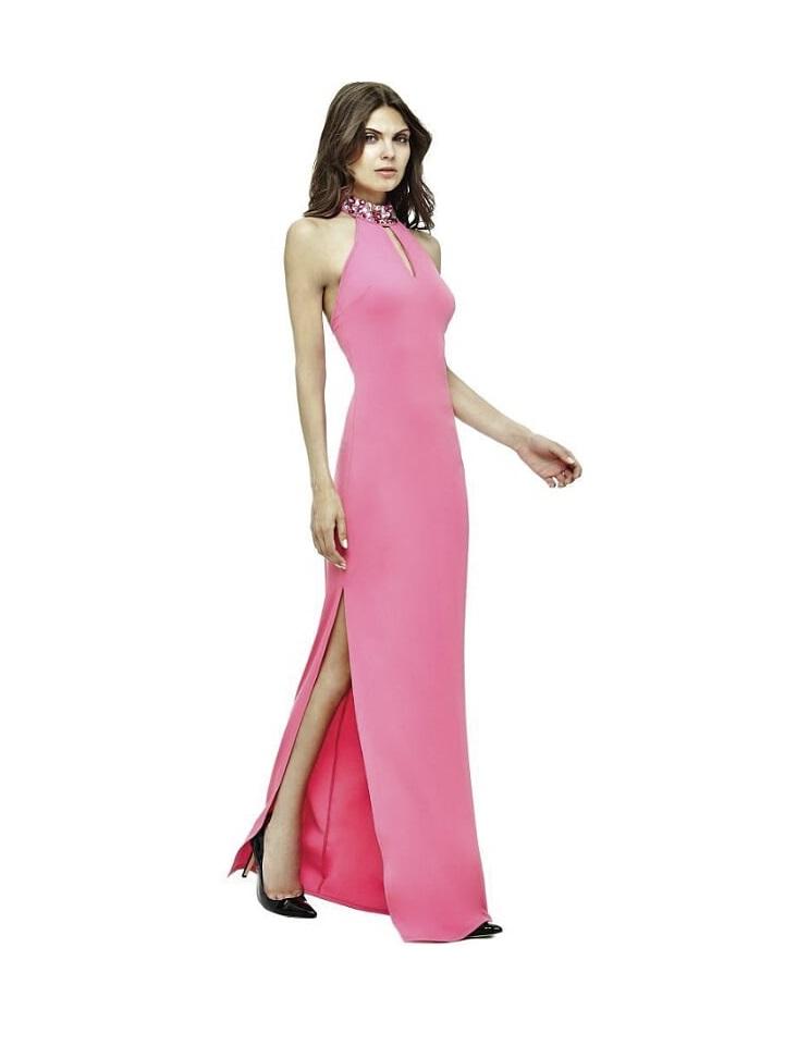 5b733a396727 Guess Guess by MARCIANO růžové šaty dlouhé