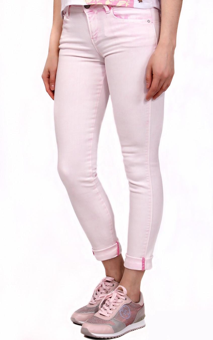 ba890332f7e GUESS dámské džíny světle růžové W61AJ2 D21W0 č.3