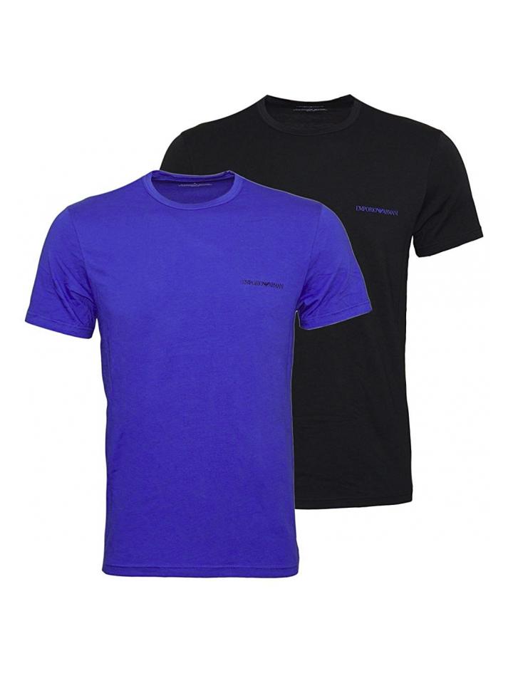 2a04bc671fe2 EMPORIO ARMANI pánské trička 2 ks - modré