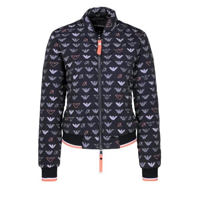 7addd15a8e76 Emporio Armani dámská černá bunda s motivem