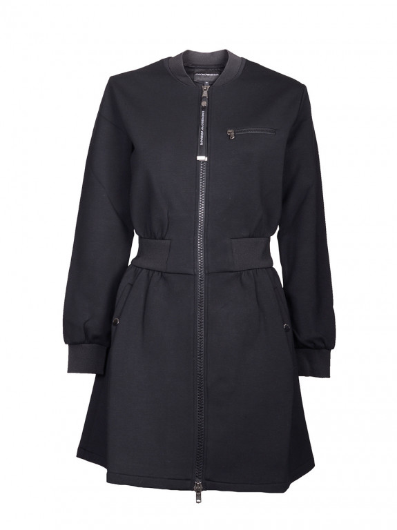 08260c79ff60 Emporio Armani dámská dlouhá bunda tmavě modrá