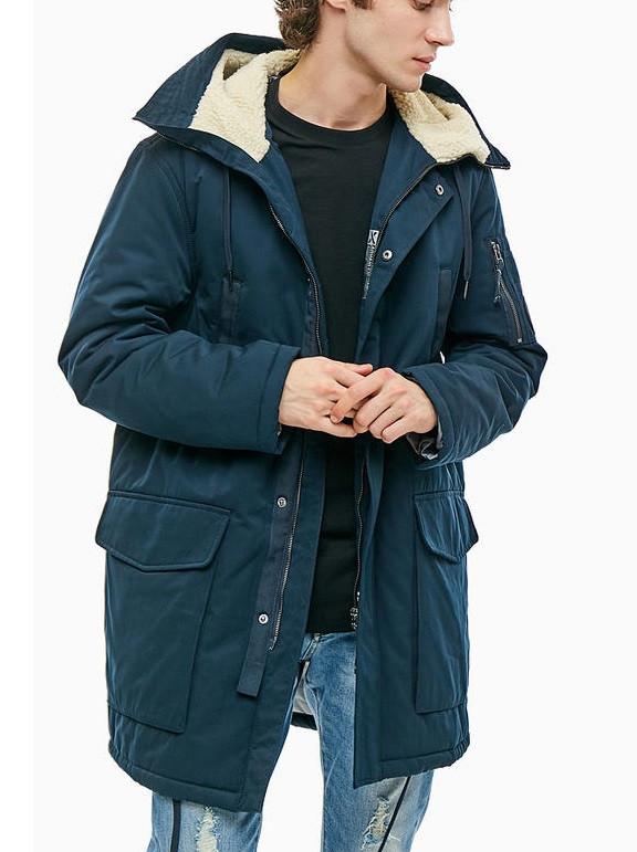 Armani Emporio Armani pánská zimní bunda tmavě modrá