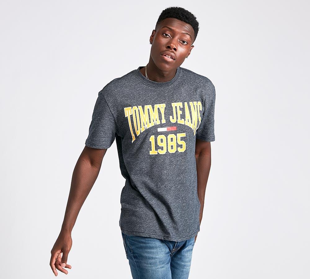 9741e098eb9f TOMMY HILFIGER pánské tričko tmavě šedé č.1