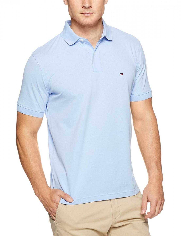 68e9733eec TOMMY HILFIGER pánské polo tričko světle modré THJP0005 č.1
