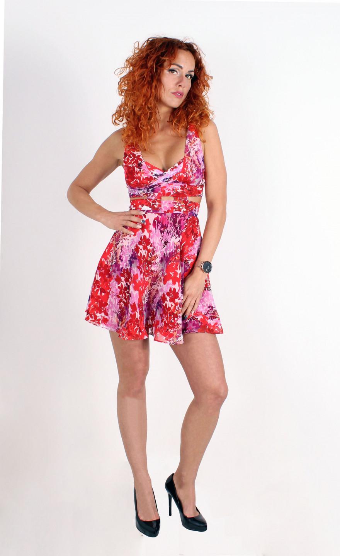 Guess GUESS dámské květinkové šaty