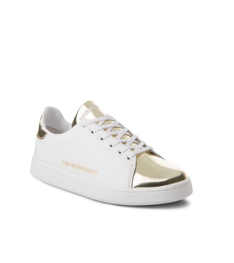 95aad43690b8 Emporio Armani dámské bílo-zlaté tenisky X3X061 XL514 P461 č.1