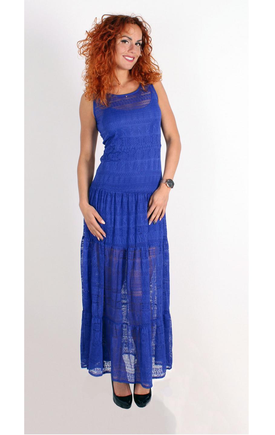 Guess Guess by MARCIANO modré šaty dlouhé