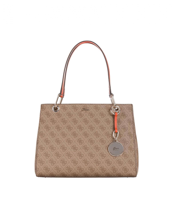 61932e403e Guess GUESS dámská hnědá kabelka s motivem JACQUI SATCHEL