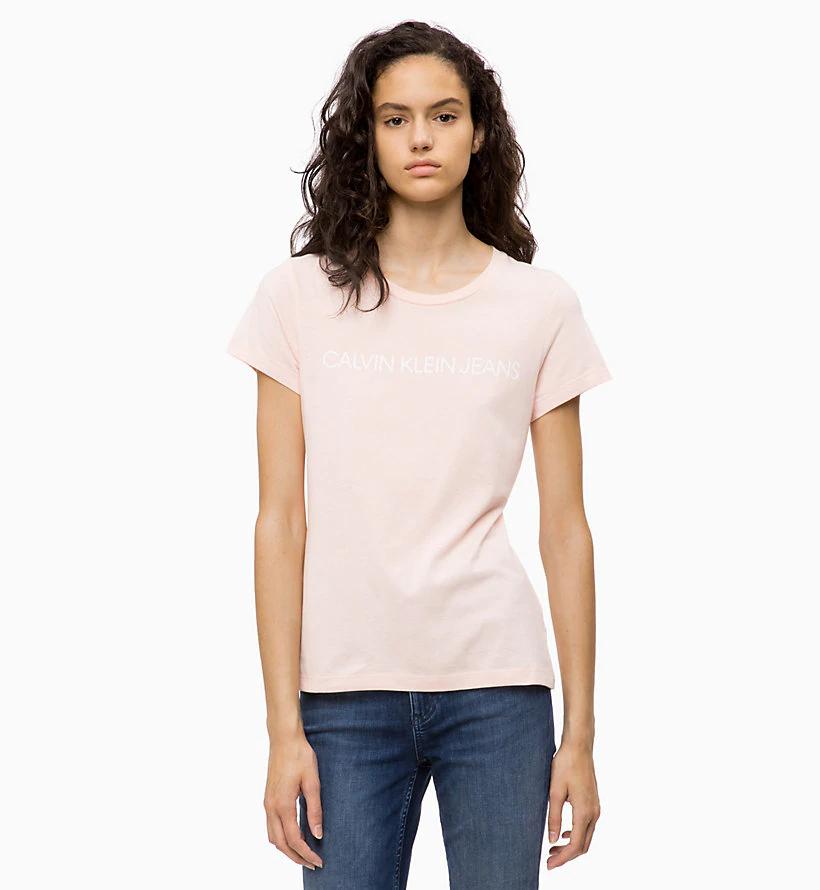35e37f42a Calvin Klein dámské tričko světle růžové | sixty.cz