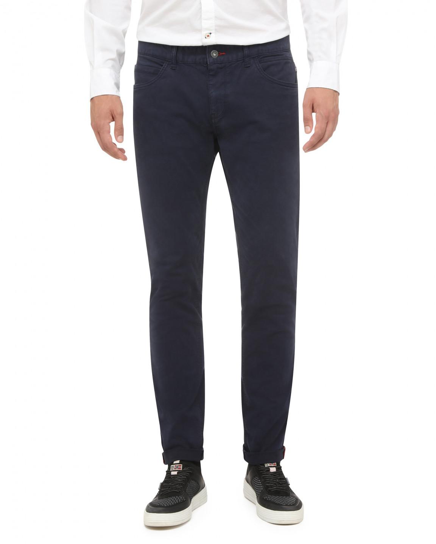 NAPAPIJRI NAPAPIJRI pánské tmavě modré plátěné kalhoty