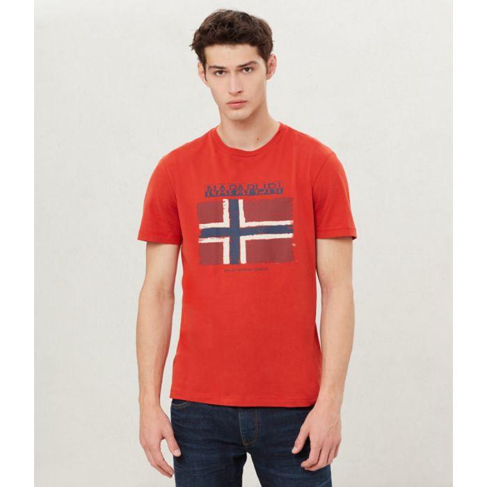90789f00edf4 NAPAPIJRI pánské červené tričko s potiskem č.1