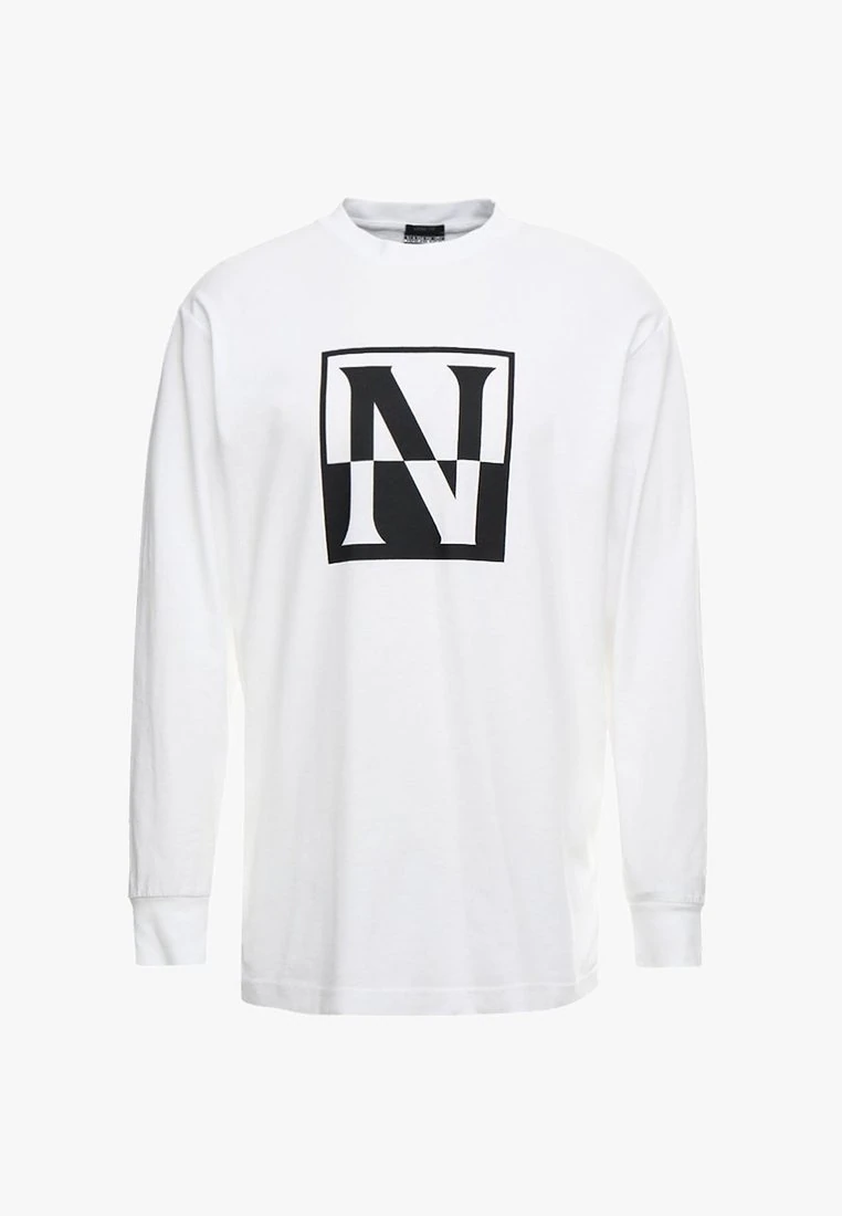 9dadef7de0 NAPAPIJRI bílé tričko s dlouhým rukávem UNISEX č.1
