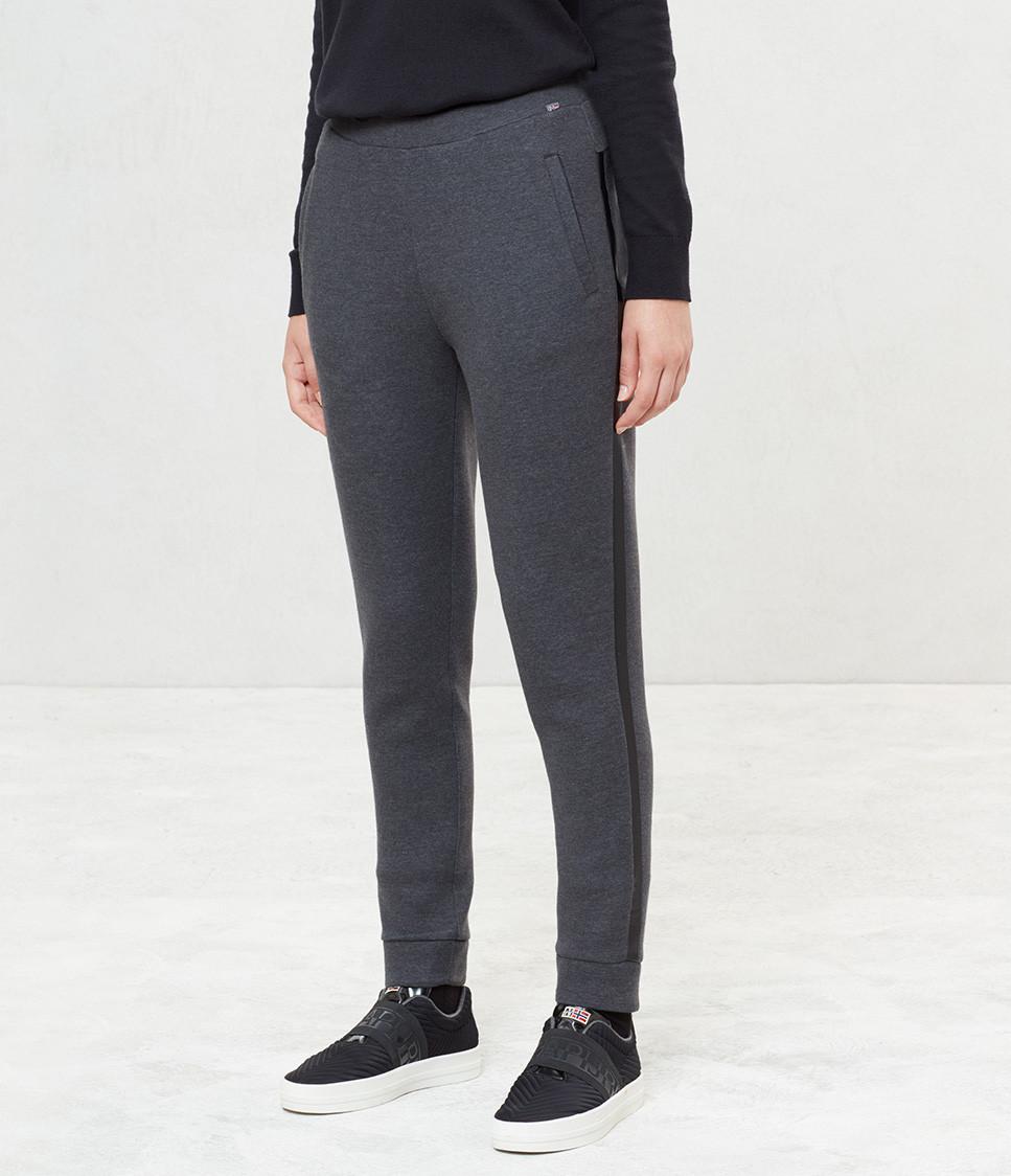Levně Napapijri NAPAPIJRI dámské tmavě šedé teplákové kalhoty