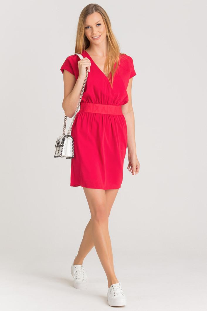 Armani Armani Exchange dámské červené šaty