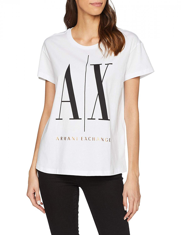 dd146c78b3 Armani Exchange dámské bílé tričko BOYFRIEND č.1