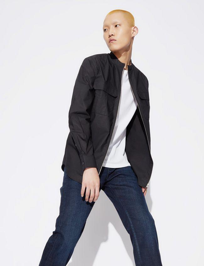 Armani Armani Exchange pánská černá košile na zip