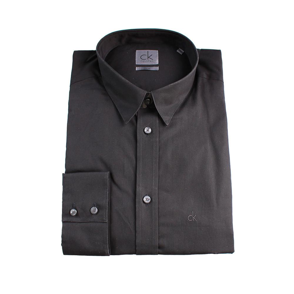 Calvin Klein Calvin Klein pánská tmavě hnědá košile