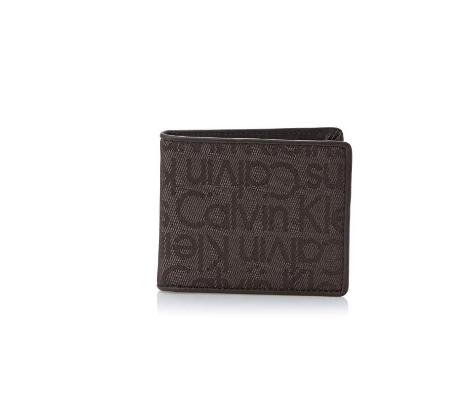 Calvin Klein Calvin Klein pánská hnědá peněženka s motivem 10,5 x 9 cm