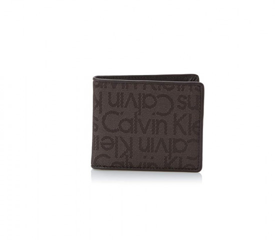Calvin Klein Calvin Klein pánská hnědá peněženka s motivem 12 x 9,5 cm