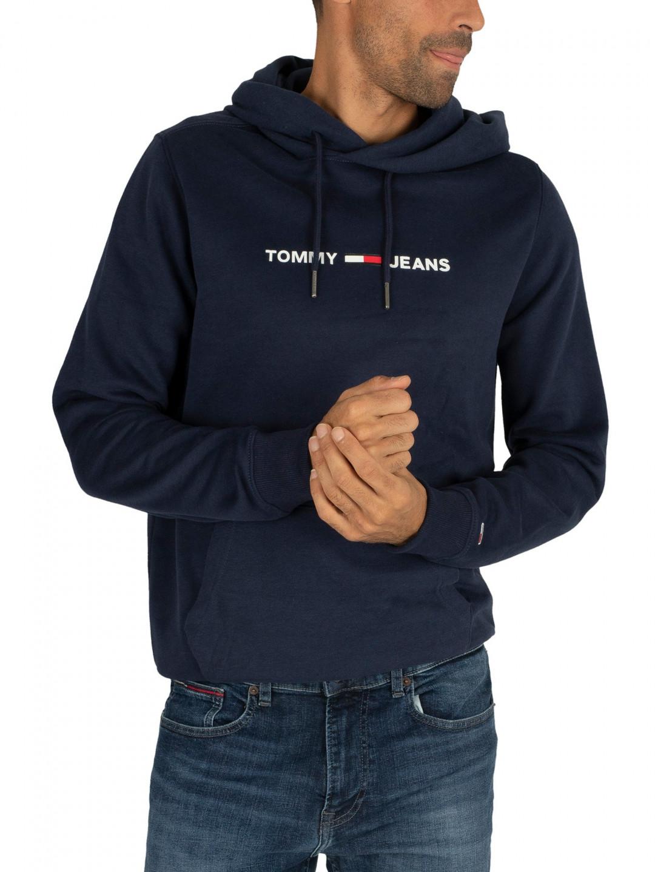 Tommy Hilfiger TOMMY JEANS pánská tmavě modrá mikina s kapucí