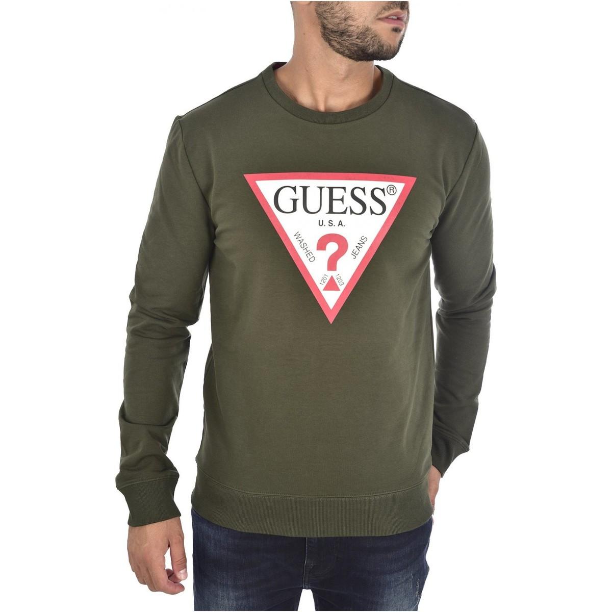 Guess GUESS pánská zelená mikina