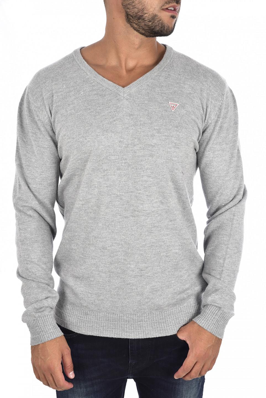 Guess GUESS pánský šedý svetr do V