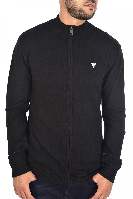 Guess GUESS pánský černý svetr na zip