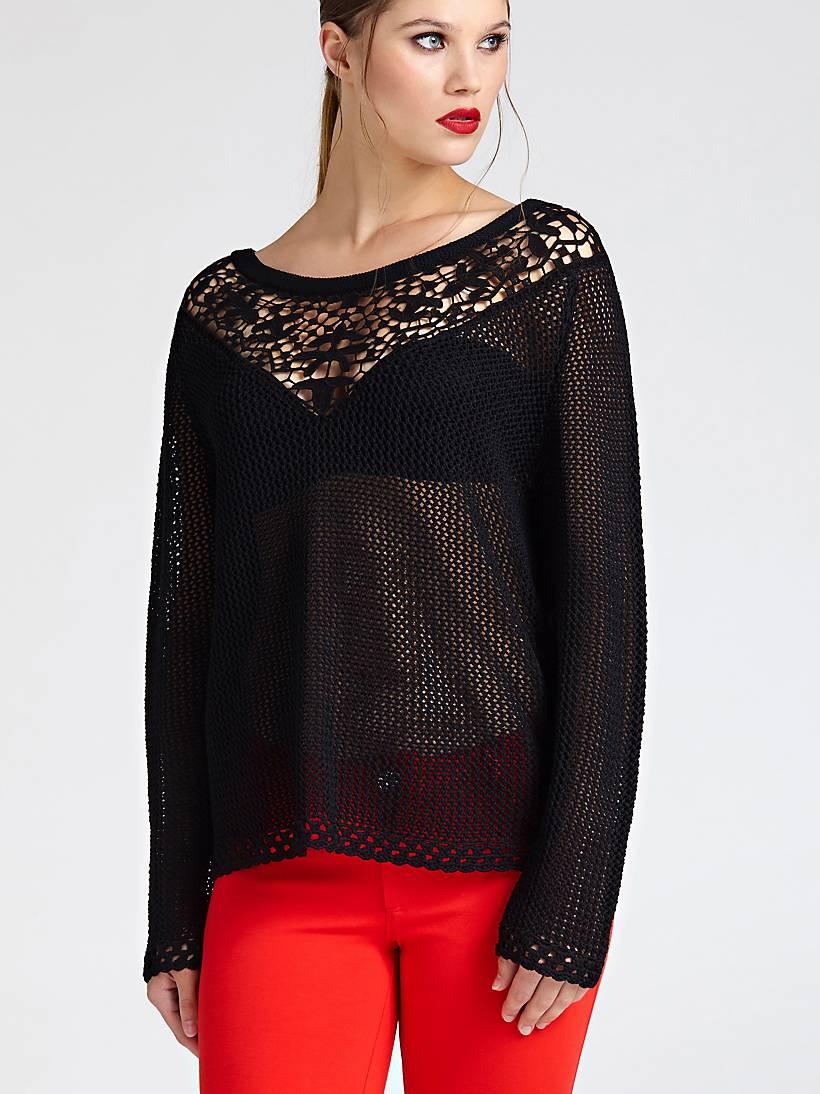 Guess GUESS dámský černý pletený svetr