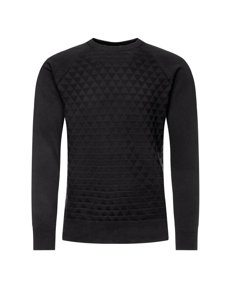 Guess GUESS pánský černý bavlněný svetr