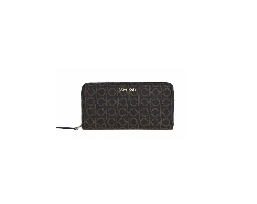Calvin Klein Calvin Klein dámská tmavě hnědá peněženka s motivy