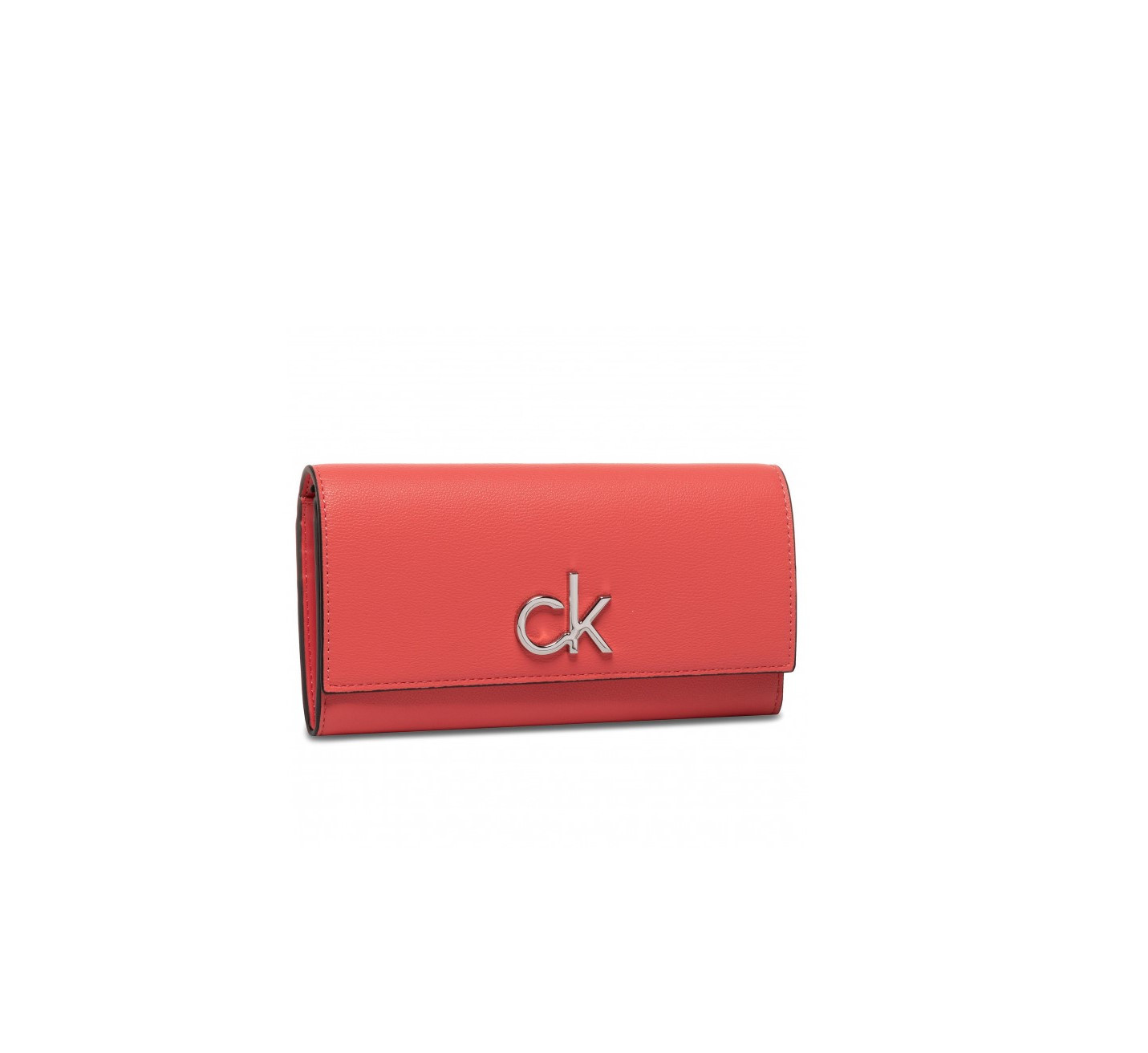 Calvin Klein Calvin Klein dámská korálová peněženka s klopou