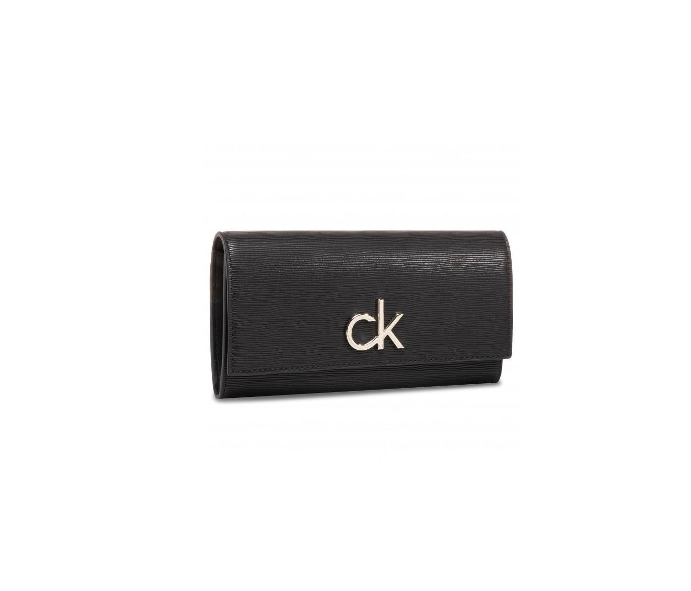 Calvin Klein Calvin Klein dámská černá peněženka s klopou