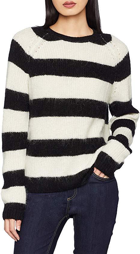 Pepe Jeans Pepe Jeans dámský černo bílý svetr s pruhy SUNA