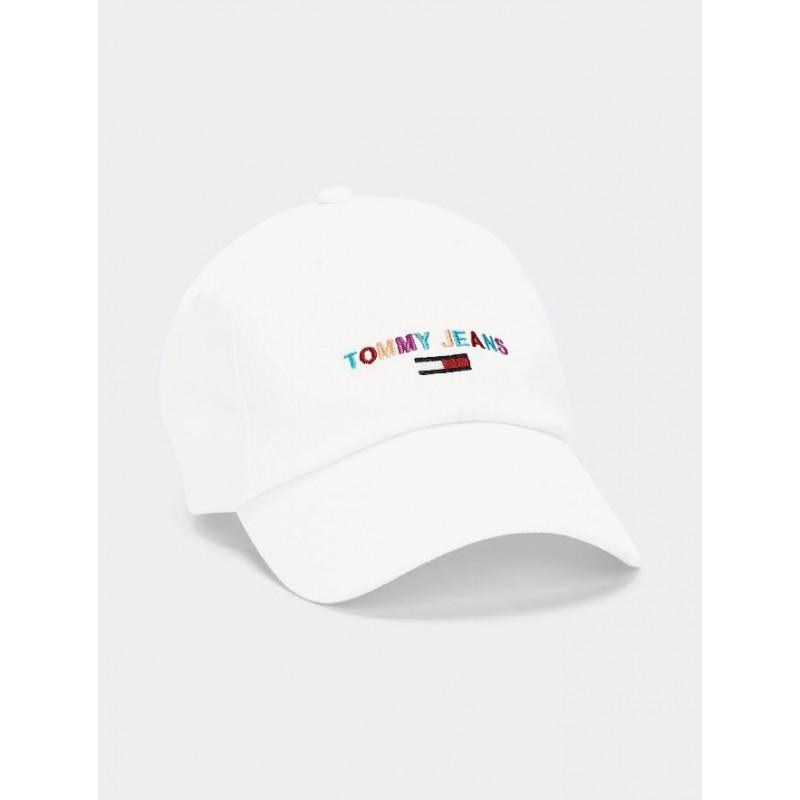 Tommy Hilfiger Tommy Jeans dámská bílá kšiltovka Sport Cap Embroidered