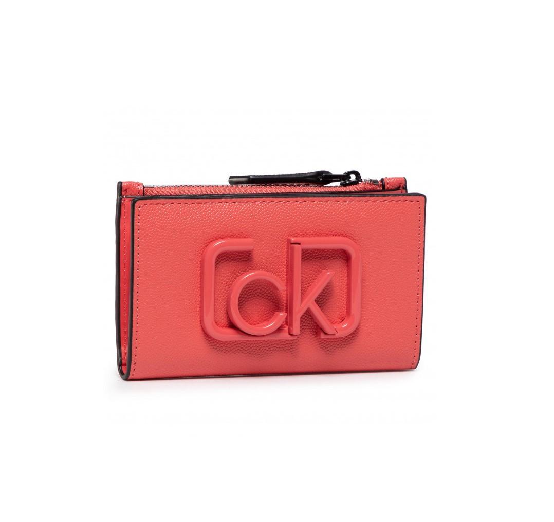 Calvin Klein Calvin Klein dámská oranžová peněženka Signature NS Cardholder