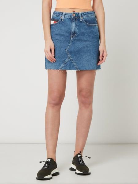 Levně Tommy Hilfiger Tommy Jeans dámská denim sukně SHORT DENIM SKIRT SVMDR