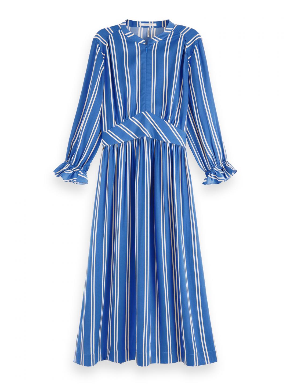 Scotch & Soda SCOTCH & SODA dámské pruhované modré šaty