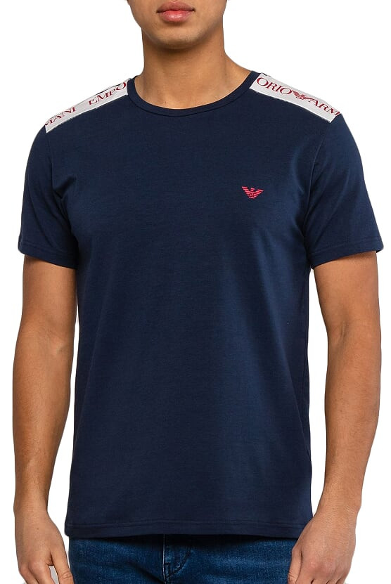 Armani EMPORIO ARMANI pánské modré tričko
