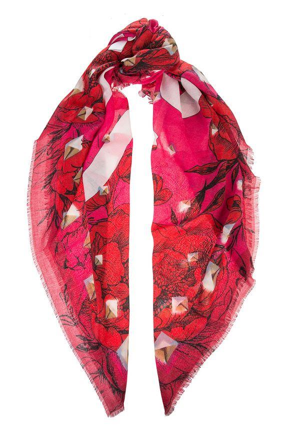 Guess GUESS dámský červený šátek