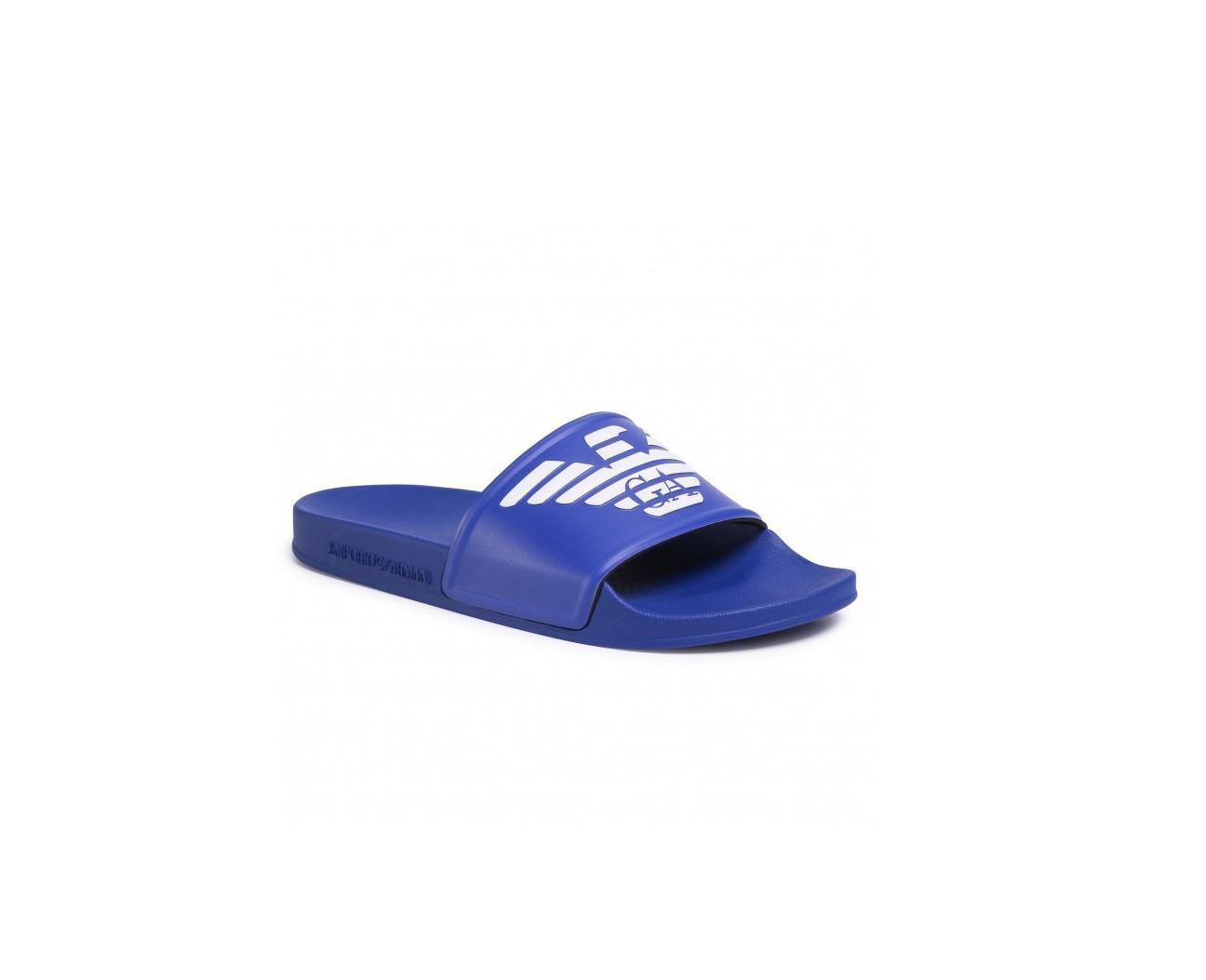 Armani Emporio Armani pánské modré pantofle