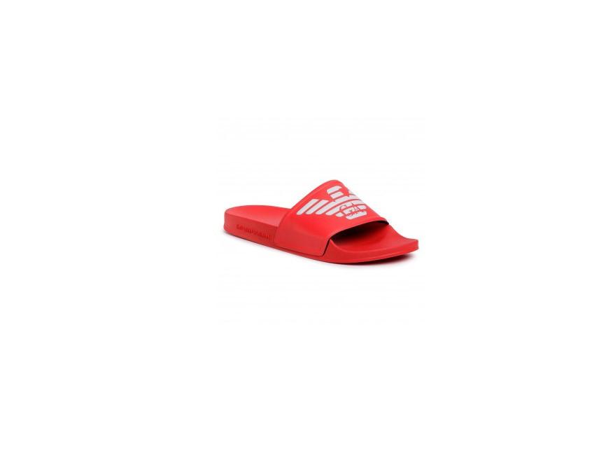 Armani Emporio Armani pánské červené pantofle